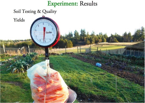experiment results cover page